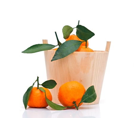 bowl of fresh tangerines  photo