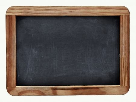School blackboard on white photo