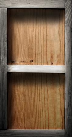 wood shelf: Estante de madera vac�a
