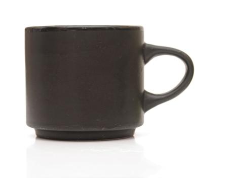 black cup on a white background Stock Photo - 17526720