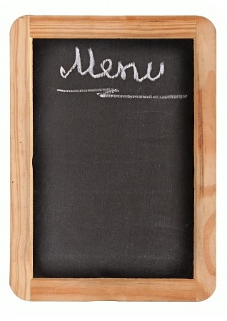 Aged black menu blackboard photo