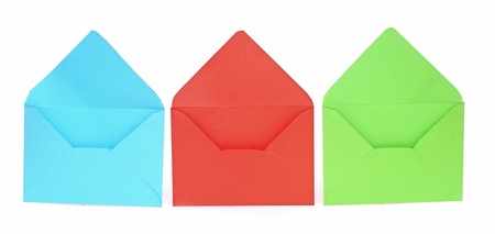 Assorted open envelopes isolated on white background Stock Photo - 17783952