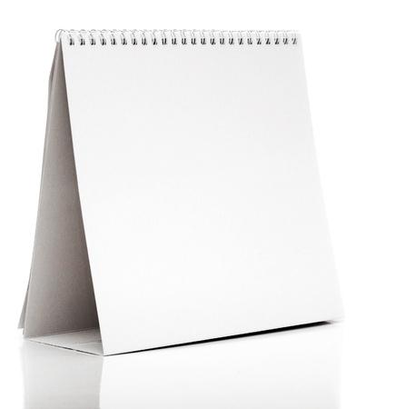 Calendario da tavolo isolato su bianco Archivio Fotografico - 17783993