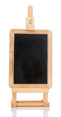 An isolated shot of a blank chalkboard on an easel. Stock Photo - 17784021