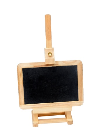 Small blackboard on easel with space for your text  photo