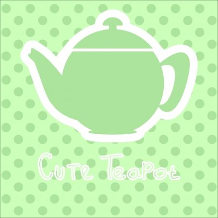 cute tea time card. vector illustration  Illustration