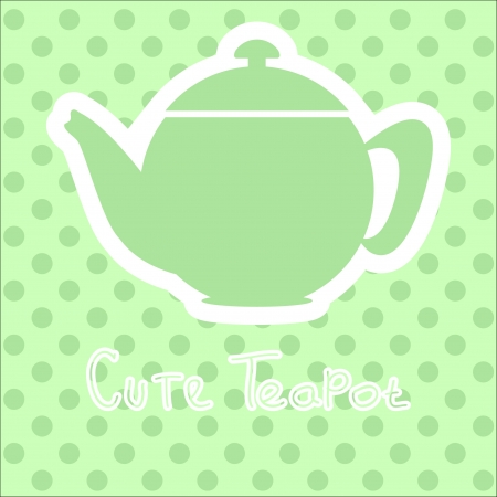 cute tea time card. vector illustration  Stock Vector - 18280463
