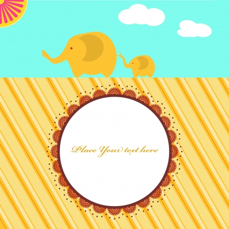 new baby shower card with elephants Stock Vector - 18339045