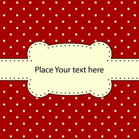 lattice frame: Polka dot design, vector frame  Illustration