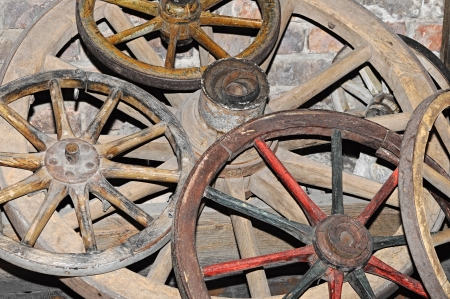 Antique wagon wheel photo