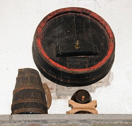 dungeons: Barrel of wine in a rustic setting