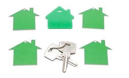 house symbol and key photo