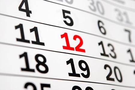 almanac: calendar showing end of time or deadline