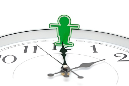 stop time: Businessman trying to stop time