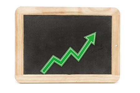 bar graph: Bar graph of growth Stock Photo
