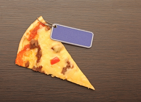 slice of pizza, place for price photo