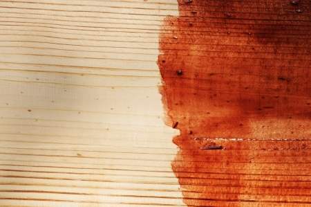 brown paint on old wooden background photo