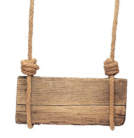 Panneau en bois isolé sur un fond blanc Banque d'images - 20447391