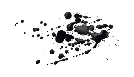 prejudiced: black blot isolated on white