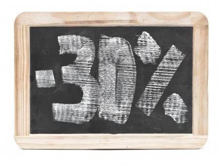 thirty percent written on blackboard photo