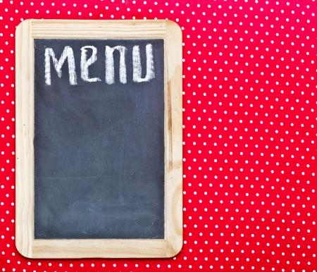 blankness: Menu title written with chalk on blackboard