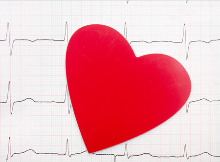 Heart and electrocardiogram photo