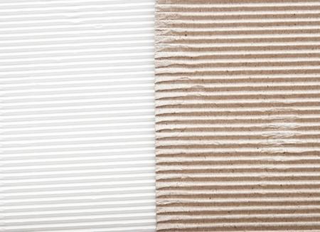 ribbed: white cardboard border with brown cardboard