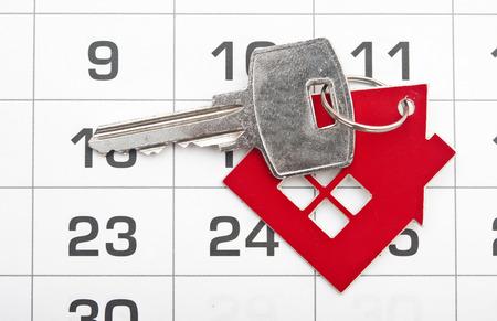 removals: A house key on a calendar background
