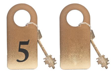 doorkey: Two hotel keys Stock Photo