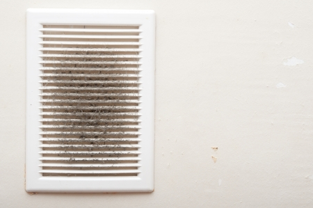 Dirty and dusty ventilation shaft close-up photo  Stockfoto