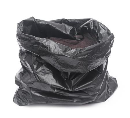 Leere Müllsack auf weißem Hintergrund Standard-Bild - 26479201