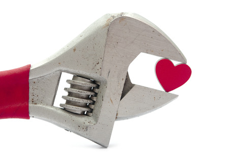 crescent wrench: crescent wrench and heart