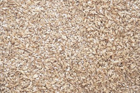 milled: wheat grain milled ground as a background  Stock Photo