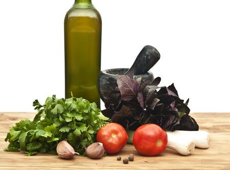 Culinary food background  photo