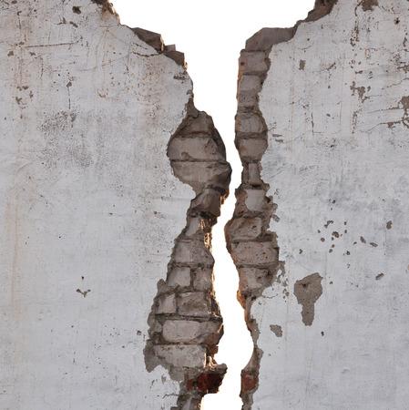 textura de la pared agrietada blanco y negro Foto de archivo