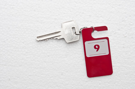 hotel suite: Hotel suite key with room number 9