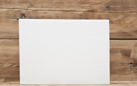 polyfoam: Polyfoam texture on wood background
