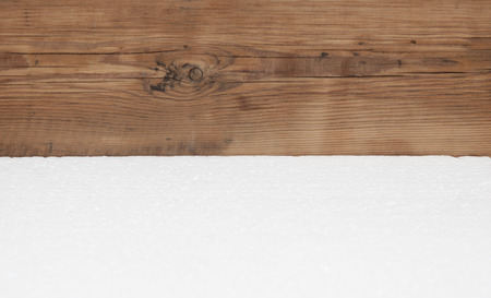 foam safe: Polyfoam texture on wood background