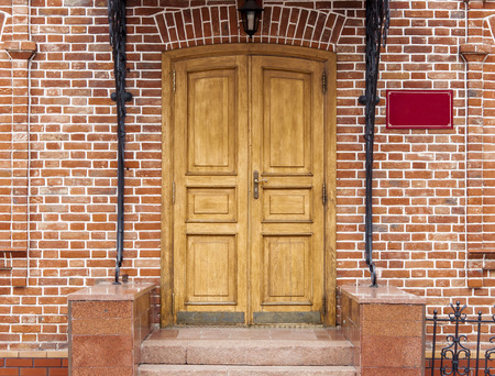 redbrick: exterior and front door of a beautiful old house