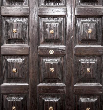 lit collection: Vintage wooden door Stock Photo