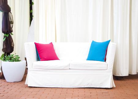 white sofa: white sofa