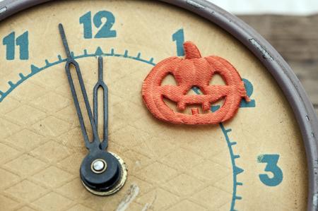helloween: nearly twelve oclock midnight,helloween concept.