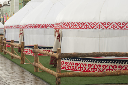 mideast: Yurt - Nomads tent is the national dwelling of Kazakhstan and Kirghizstan peoples