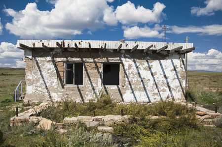 no name: The thrown no name old rural shed concrete plates Stock Photo