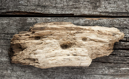 grungey: old grungy antique wooden plank of driftwood sign Stock Photo