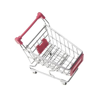 shopping carts isolated on white background Stock Photo