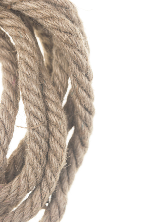 Rope knot isolated on a white background Stock Photo - 90085381