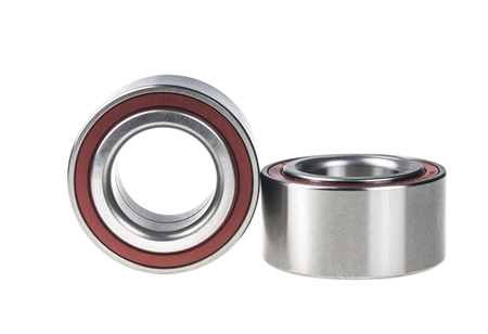 Two ball bearings, isolated on white background with clipping path