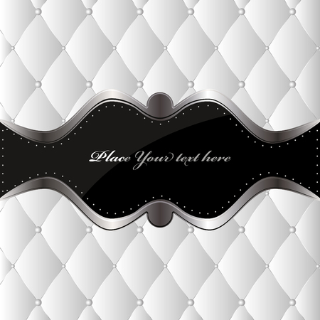 Luxury white background with golden buttons