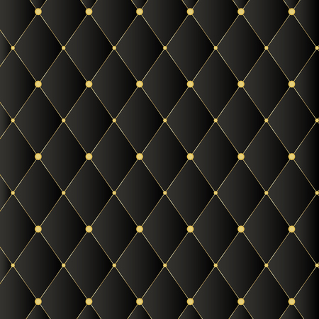Luxury black background with golden buttons Illustration